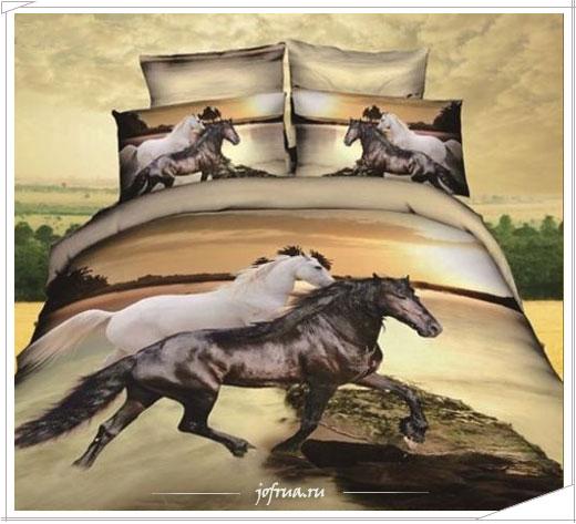 Подарки на 2014 год - постельное белье с лошадками!